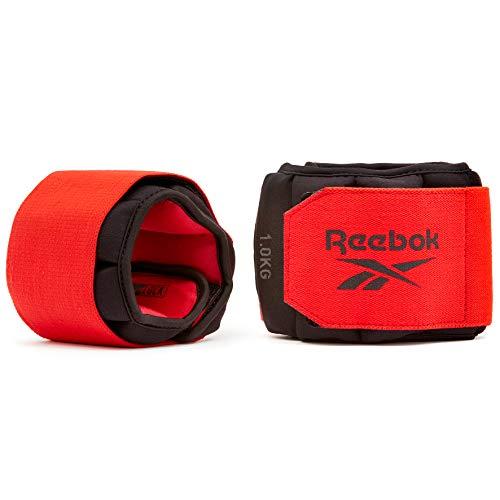 Reebok Pesas de Tobillo Flexlock, Negro, 1.5 kg