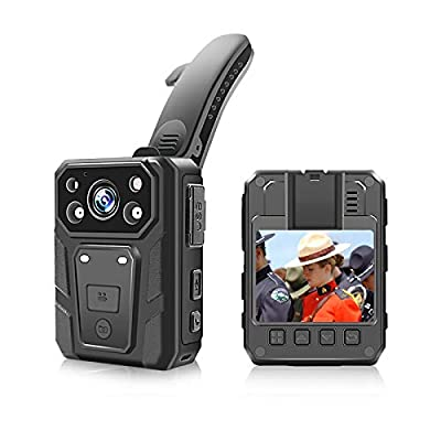 Police Body Camera, 1080p HD Body Worn Camera with 2 Inch Display, Night Vision, 3600w Pixels, Waterproof, 3200mAh Battery, 15 Hours Recording, 32G or 64GB Memory by CAMMHD