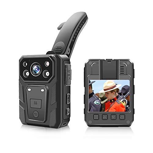 CAMMHD - Grabadora de vídeo, 1080p Full HD 2,0 pulgadas, cámara corporal impermeable, visión nocturna por infrarrojos, 3200 mAh, cámara corporal (32 GB).