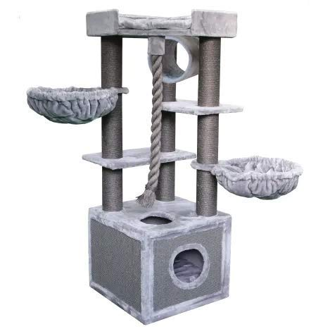 """Mix.Home Iceland Cat Tree, 65"""" H. Best Choice for Your Pets. Kitty Posts. Cat's Stands. Best Cat Bed & Trees & Condos. Pet's Playground."""