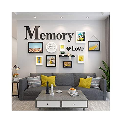 N\C Collage Bilderrahmen, Wandset Foto Dekorative Kunstdrucke & Hängende Vorlage Bilderrahmen Set, Familienzimmer Kunstdekoration LKWK