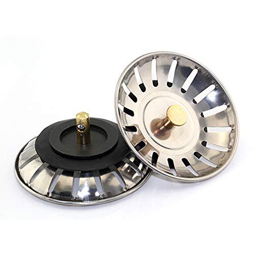 [Juego de 2 piezas] Filtro de drenaje de fregadero de 80 mm | filtro de fregadero de acero inoxidable | tapón de cocina | filtro de fregadero | tapón de fregadero de cocina | embudo