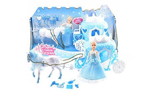Toi-Toys Eisprinzessin-Pferd mit Kutsche in Einer Schachtel, Figur, 12879A, Mehrfarbig