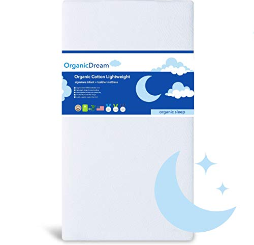 Buy Cheap Organic Dream Crib Mattress - Organic Cotton Lightweight - 100% Breathable & Hypoallergeni...