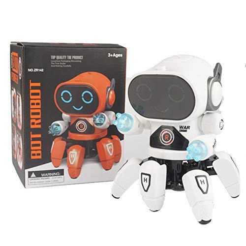 Muzikaal Dansen Wandelen Robot Interactief Metgezel Robots, Bots Met Muziek En LED Kleurrijke Zwaailichten Speelgoed Voor Baby Jongens Meisjes Kinderen Peuters Leeftijd 1 2 3 4 5