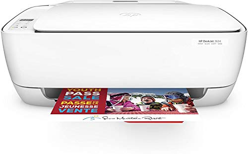 HP Wireless Color Inkjet Compact Printer, Copy, Scan, All-in-One Printer, Wireless Printing, HP Instant Ink, DeskJet 3634