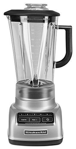 KitchenAid KSB1575MC 5-Speed Diamond Blender, Metallic Chrome (Renewed) Nevada