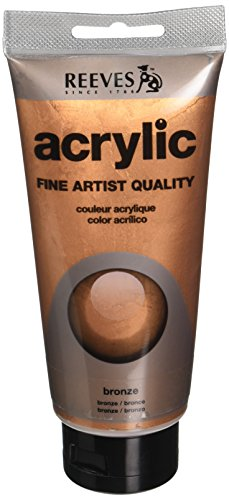 REEVES Acrylfarbe Acrylic, hohe Pigmentierung, 75ml Tube - Bronze