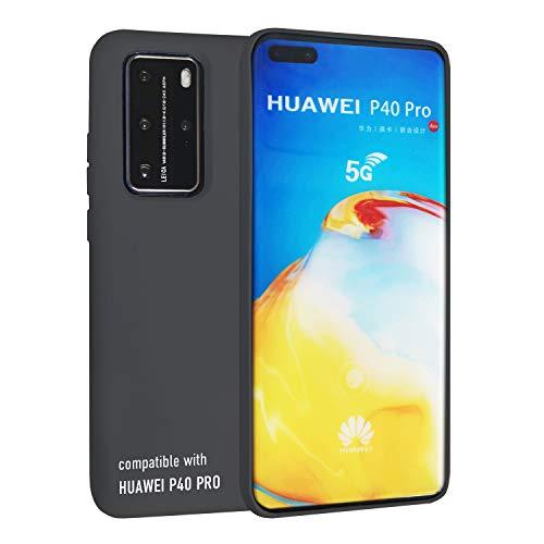 smartect Cover in Silicone per Huawei P40 PRO - Aderenza Perfetta - Superficie Morbida Antiscivolo - Linee Interne Morbide - Case Silicone Nero