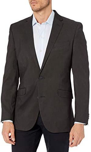 Kenneth Cole REACTION Men s Techni Cole Stretch Slim Fit Suit Separate Black Pindot 48L product image