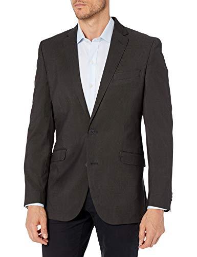 Kenneth Cole REACTION Herren Techni-Cole Stretch Slim Fit Suit Separate Business-Anzug Jacke, Schwarzer Pindot, 46