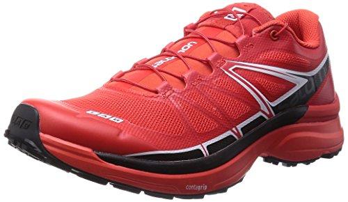 SALOMON Calzado Bajo S-Lab Wings - Zapatillas de Senderismo, Hombre, Rojo -(RD/BK/WH)