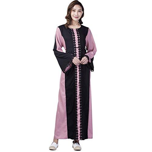 Hougood Vrouwen Abaya Jurken Ramadan Maxi Jurk Moslim Islamitische Jurk Lange Mouw Dubai Kaftan Robes Dressing Jurk Dames Gelegenheid Formele Jurk