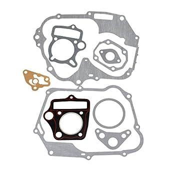 HIAORS Engine Head Cylinder Intake Gasket Set for 125cc 54mm Horizontal Engine Chinese Pit Dirt Bike Atv Parts