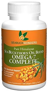 Sea Buckthorn Oil Blend Omega-7 Complete 120 Count Softgels