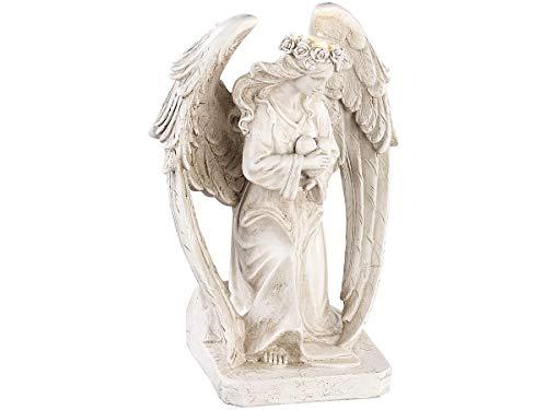 Lunartec Engel: Kniende Solar-LED-Schutzengel-Figur, 24,5 cm, für innen & außen (LED Engel aussen)