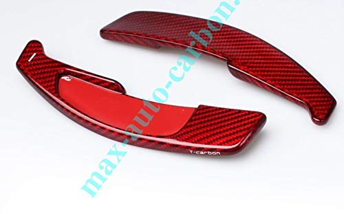 Max Auto Carbon Rot Carbon Look Gfk Schaltpaddles Schaltwippen passend für AMG C63 W204 CLA 45 A45 E63 W221 S63 S65 AMG