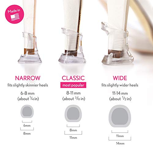 Solemates Heel Protectors: 3 Size Collection – High Heel Stoppers Perfect for Any Outdoor Wedding or Event Protecting Heels from Grass, Gravel, Bricks, and Cracks (Narrow, Classic, Wide)