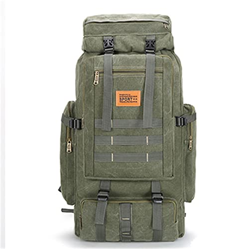 SHOULIEER Al aire libre 80l mochila táctica militar camping senderismo mochila lona viaje escalada bolsa