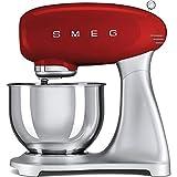 Smeg Uk Ltd SMF01RDUK - Miscelatore per alimenti, 800 Watt, 10 velocità, 4,8 litri, colore: Rosso