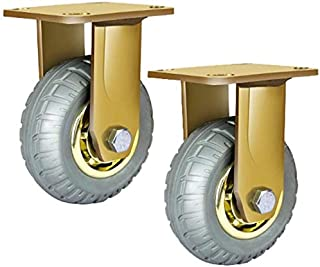 WSWJ 2 stks wielen 2/4/5/6/8 inch industriële zwenkwielen met rem kogellagers goud zware transportwielen (kleur: draaiwie...