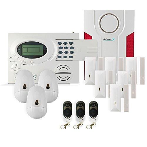 Atlantic'S Alarme Maison sans Fil St-III Kit 5, Blanc