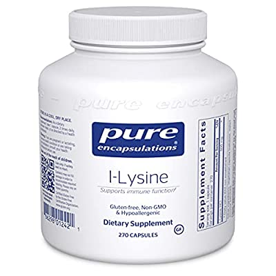 Pure Encapsulations L-Lysine   Amino Acid Supplement for Immune Support and Gum Health*   270 Capsules