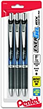 Pentel EnerGel Deluxe RTX Retractable Liquid Gel Pen, (0.5mm), Needle Tip, Black Ink, 3 Pen Per Pack (BLN75BP3A)