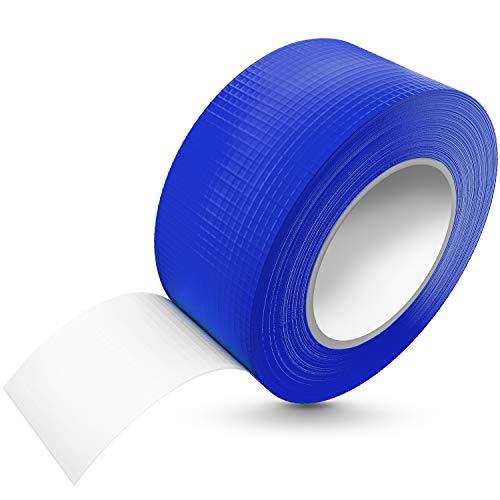 TAPEFIX [50m x 48mm] Panzertape blau wasserfest, extreme Klebkraft I Korrigierbares Panzerband handreißbar I Gewebeband, Gaffa Tape, Duct Tape