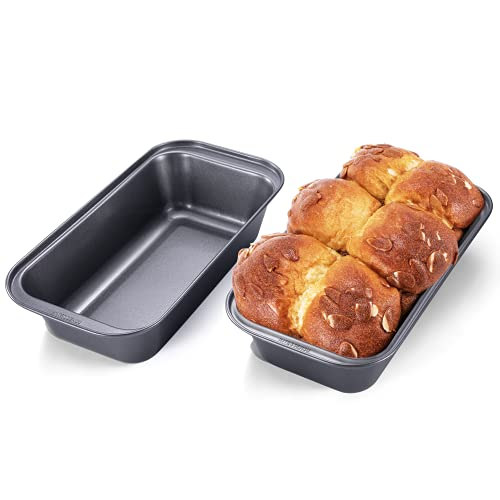 KITESSENSU Bread Pans for Baking, Nonstick Carbon Steel Loaf Pan, 8.4 x 4.4Inch, Set of 2