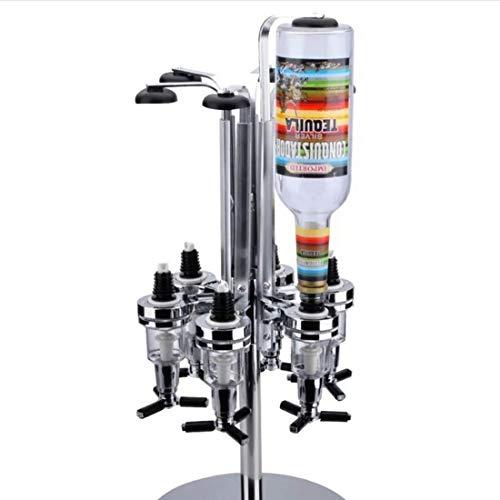 Kaffeekocher Kaffeemaschine 6 Bottle Bar Caddy Getränkespender Home Bar Butler Rotated Mounted Liquor Halter Getränkeweinsaftcocktail Dispenser-Rack Kaffeekanne Tee-Topf-Drip-Topf