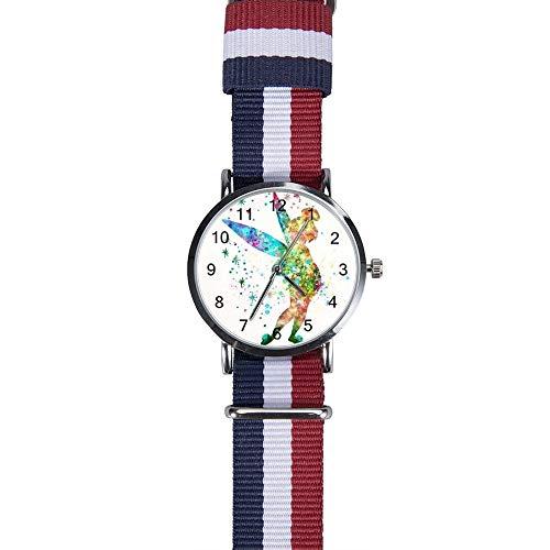 Armbanduhr Tinkerbell und Fee (3) Freizeit Armbanduhr Quarz für Männer Frauen Kinder Freunde Geschenk