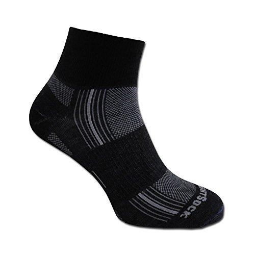 Wrightsock Socken Stride doppel-lagig schwarz Größe XL