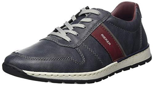 Rieker Herren B2134 Sneaker, Atlantic/Bordeaux/Polvere 14, 42 EU