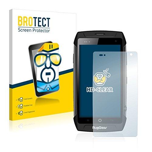 2X BROTECT HD Clear Bildschirmschutz Schutzfolie für RugGear RG730 (kristallklar, extrem Kratzfest, schmutzabweisend)