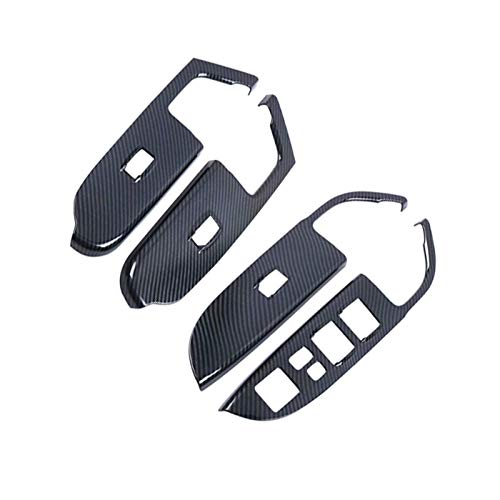Ming Ming 4 unids/Set ABS ABS Puerta de la Ventana Interruptor de la Ventana Cubierta del Interruptor de la Mano Izquierda Ajuste de la Mano Izquierda para Mitsubishi ASX/Outlander Sport 2020 Esti
