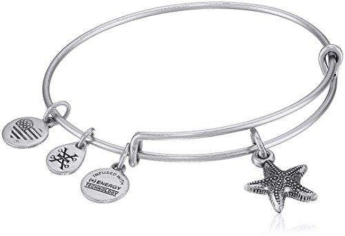 Alex and Ani Starfish II Rafaelian Silver Bangle Bracelet