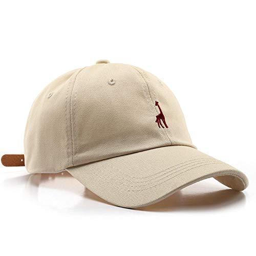 Herren Kappe Cap Unisex Cotton Verstellbare Schildstickerei Herren Baseballmütze Beige