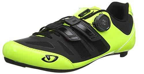 Giro Herren Sentrie Techlace Road Radsportschuhe-Rennrad, Mehrfarbig (Highlight Yellow/Bla 000), 40 EU