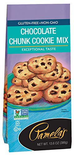Pamela's Products Gluten Free Cookie Mix, Chocolate Chunk, 13.6 Ounce Unit