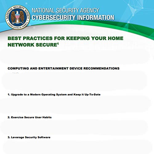 Cybersecurity Information National Security Agency: Best Practices for Keeping your Home Network Secure (English Edition)