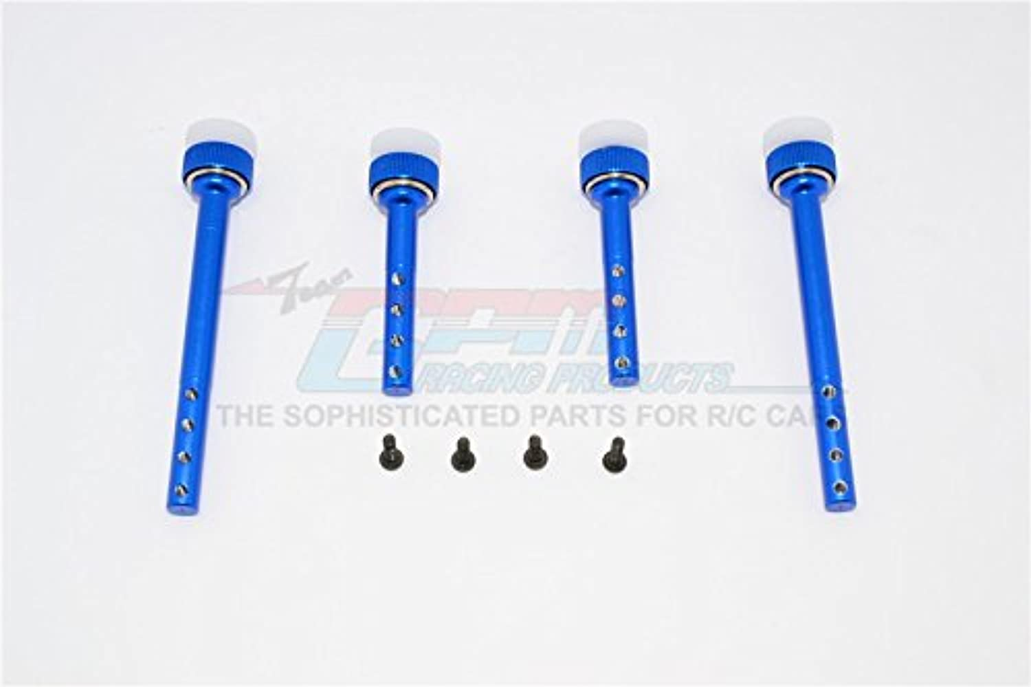 Gmade Sawback GS01 & Sawback 4LS Upgrade Parts Aluminum Front+Rear Magnet Body Post - 1 Set bluee