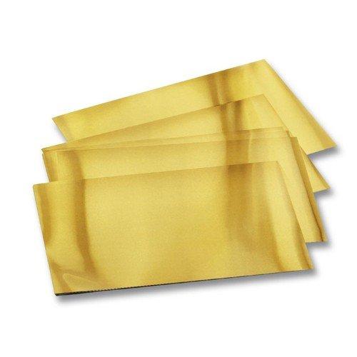 Folia Prägefolie 70µ für Drückarbeiten, 18,5x29,5cm, 30 Bogen, gold