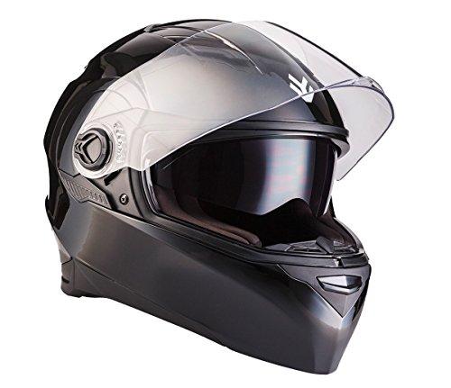"ARMORHELMETS® AF-77 ""Shiny Black"" · Integral-Helm · Full-Face Motorrad-Helm Roller-Helm Scooter-Helm Cruiser Sturz-Helm Street-Fighter-Helm · ECE Sonnenvisier Schnellverschluss Tasche XL (61-62cm)"
