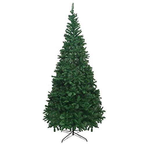 vidaXL Albero di Natale Artificiale 300cm Verde con Supporto Abete Natalizio