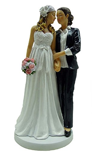 December Diamonds Wedding Figurine - Brides'On This Day' Female Couple In Dress & Suit