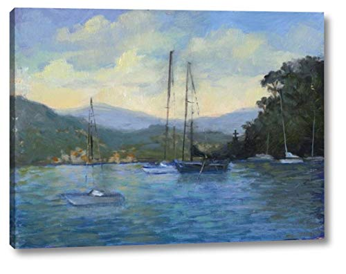 "Portofino Bay by Mary Jean Weber - 18"" x 24"" Canvas Art Print Gallery Wrapped - Ready to Hang"