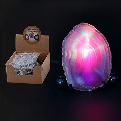 Wpond USB Achat Lampe Mini 7 Farben LED Nachtlicht für Sammeln Home Party Dekoration Geschenk