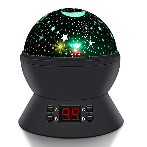Star Night Light, Star Projector for Kids, DSTANA Kids Light Projector with Timer, Projection Lamp for Bedroom Parties Birthday Gifts