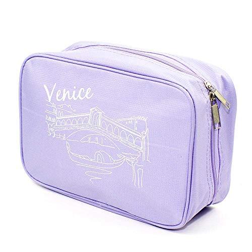 Yecia Sac de rangement de voyage for sac de maquillage multi-fonction for hommes et femmes, grande capacité (Color : Purple)